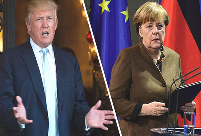 Donald Trump y Angela Merkel
