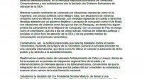 Comunicado del Movimiento de Liberación Nacional - Tupamaro de Uruguay