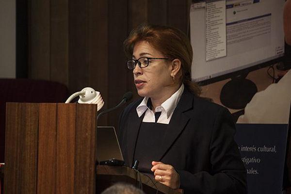 Tania Velázquez Rodríguez, Directora Central de la Dirección Central de Comercial y Mercadotecnia de ETECSA. Foto: Tomada de Cubadebate