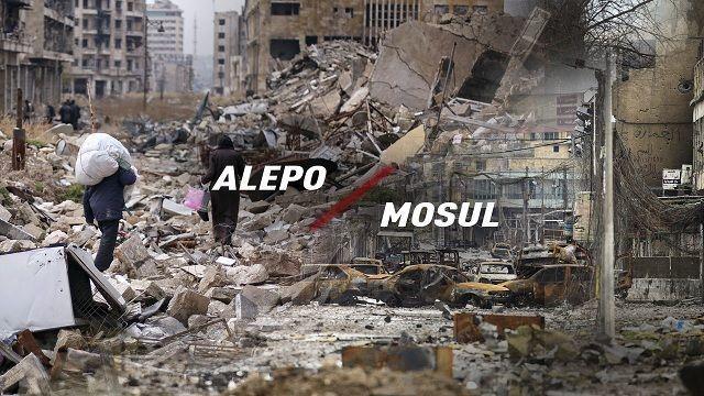Alepo y Mosul ciudades ocupadas por el terrorismo