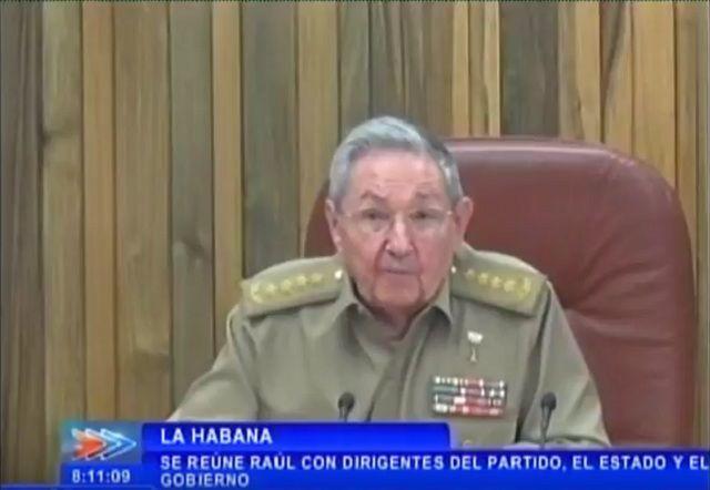 Raúl Castro dirige las acciones de recuperación tras paso de Huracán Irma