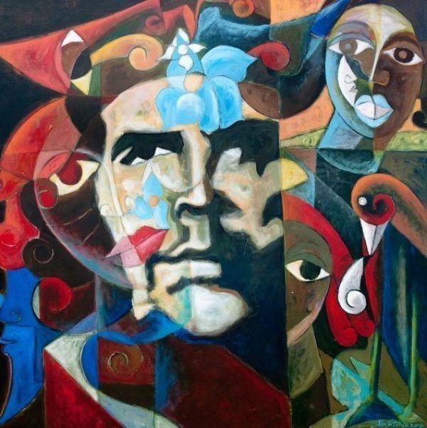 Obra de arte inspirada en la foto de Alberto Korda al Che Guevara Autor: Korda