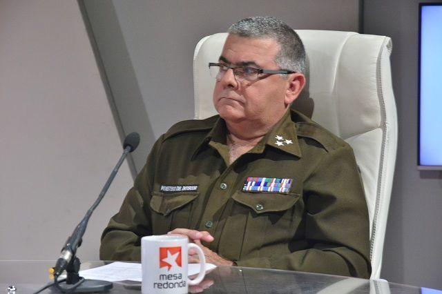 El coronel Víctor López Bravo, jefe del Departamento Nacional de Capitanías de Puerto de la Jefatura Tropas Guardafronteras.