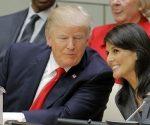 El presidente de EE.UU., Donald Trump, y la embajadora estadounidense ante la ONU, Nikki Haley. Lucas Jackson / Reuters
