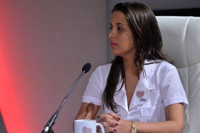 La presidenta de la Federación Estudiantil Universitaria de la Universidad de Ciencias Médicas de Villa Clara, Anabel Treto de la Paz, expresó que los estudiantes de Ciencias Médicas no separan su formación universitaria de su ministerio formador.