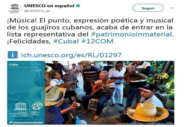 Punto Cubano, Patrimonio de la Humanidad