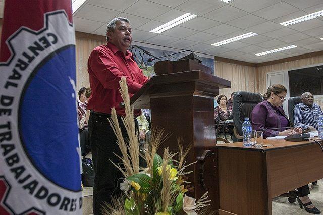Ulises Guilarte De Nacimiento, secretario general de la CTC. Foto: René Pérez Massola