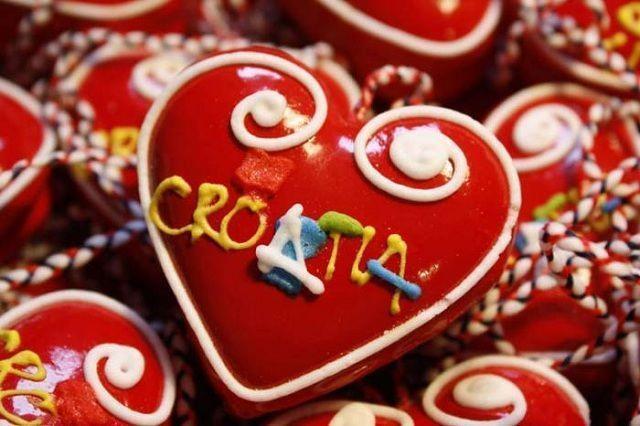 En Croacia resulta habitual regalar un bizcocho con forma de corazón