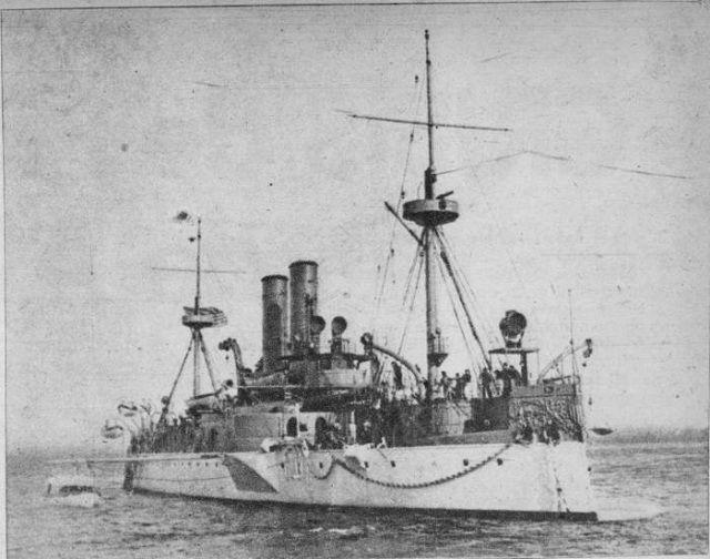 Acorazado de segunda clase USS Maine hundido en La Habana el 15 de febrero de 1898. Foto: Archivo