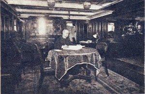 Salón del camarote del capitán Sigbee. Allí se encontraba cuando ocurrió la explosión. Foto: Bohemia