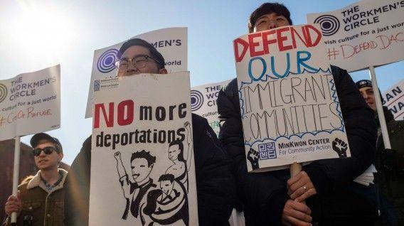 Las protestas en Estados Unidos en contra de la cancelación del DACA son continuas. (Foto: AFP)