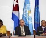 A nombre del MINSAP, su director nacional de Epidemiología, doctor Francisco Durán, agradeció la posibilidad que se le brinda a Cuba de integrar los mencionados fondos. Foto: Ariel Ley