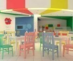 La heladería Dulce Crema, en pleno boulevard santaclareño, distingue por su diseño fresco e infantil, pensado para el disfrute de los niños y sus familias. (Foto: cortesía de la Delegación provincial de Palmares)