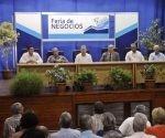 La V Feria de Negocios, que sesionará hasta el 23 de mayo en Expocuba. Foto: ACN