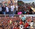 Los candidatos visitaron tres ciudades de Venezuela. Foto: AVN - Twitter