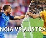 Francia derroto a Australia 2 goles por 1 en la Copa Mundial de Rusia 2018