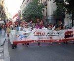 Desfile en España en contra del Bloqueo impuesto a Cuba por Estados Unidos