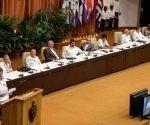 Mónica Valente, secretaria ejecutiva del Foro, leyó el documento final del Foro de Sao Paulo celebrado en La Habana, Cuba