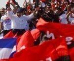 El mandatario en el multitudinario acto del pasado 19 de julio en Managua. Foto: Reuters