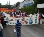 Esta movilización ha sido convocada por diversas organizaciones sociales para luchar por el derecho al agua. Foto: @Teleprensa33