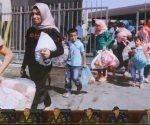 El pasado 18 de julio Rusia creo en Siria un centro para facilitar el regreso a sus hogares de refugiados y desplazados sirios. Foto: EFE