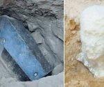 El sarcófago mide unos dos metros de altura y tres de longitud, el más grande con un peso de unas 30 toneladas. Foto: Página 12