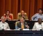 Durante el plenario del Primer Período Ordinario de Sesiones de la IX Legislatura de la Asamblea Nacional del Poder Popular (ANPP), en el Palacio de Convenciones de La Habana, el 21 de julio de 2018. Foto: ACN