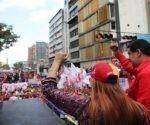 Nicolás Maduro ofrecerá declaraciones tras la llegada de los manifestantes al Palacio Presidencial. Foto: Prensa Miraflores