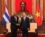El Primer Vicepresidente cubano, Salvador Valdés junto al presidente vietnamita, Tran Dal.