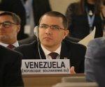 """Solicitamos en nombre del pueblo de Venezuela y del presidente Nicolás Maduro el cese de la agresión a la República Bolivariana"""", indicó el canciller venezolano , Jorge Arreaza"""
