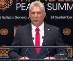 Cumbre de la Paz, Miguel Díaz Canel en la ONU