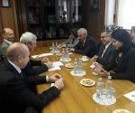 Durante el fraternal encuentro, ambas partes analizaron el estado actual de los vínculos parlamentarios entre ambos países.