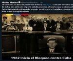 Nicolás Maduro, rechazó la política de bloqueo económico impuesto por el gobierno de Estados Unidos contra Cuba