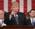 Donald Trump en su discurso ante el Congreso