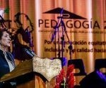 Enna Elsa Velázquez Cobiella, ministra de Educación en el Congreso de Pedagogía 2019 en Cuba