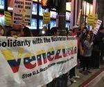Solidaridad con el gobierno de Nicolás Maduro y en contra de la injerencia de EE.UU, en ese país